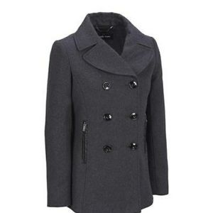 Black Rivet Gray Winter Peacoat Jacket Winter Coat
